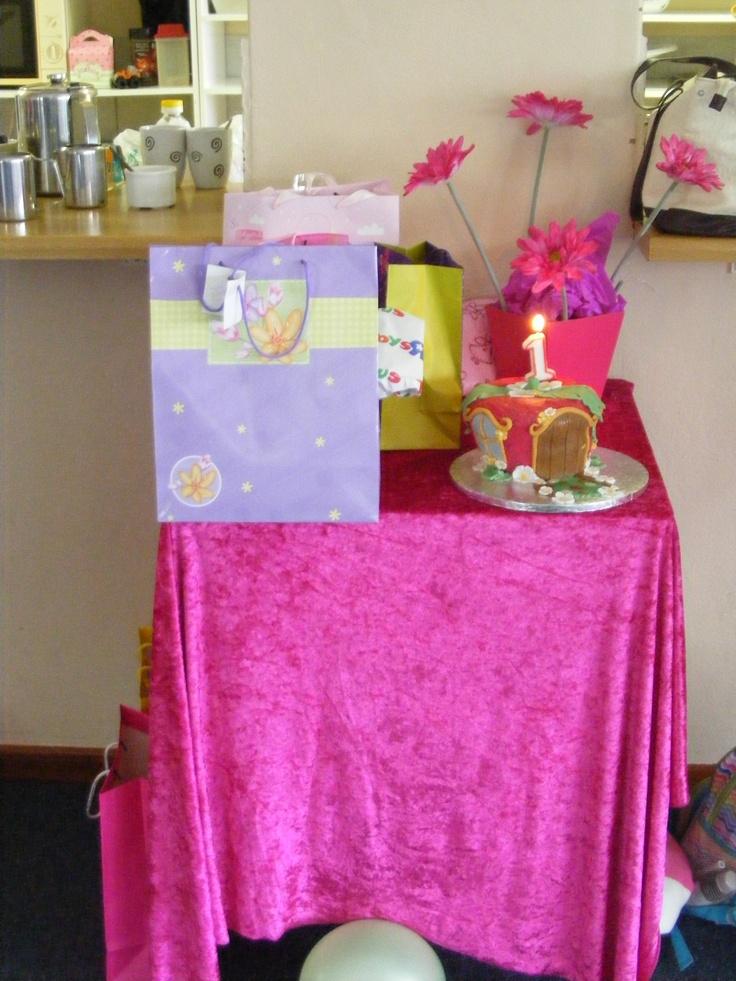 Gift & Cake Table  StrawberryShortcake