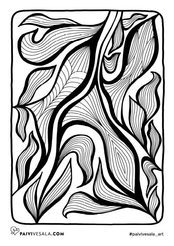 Free printable coloring page from Mental Images vol 2 coloring book