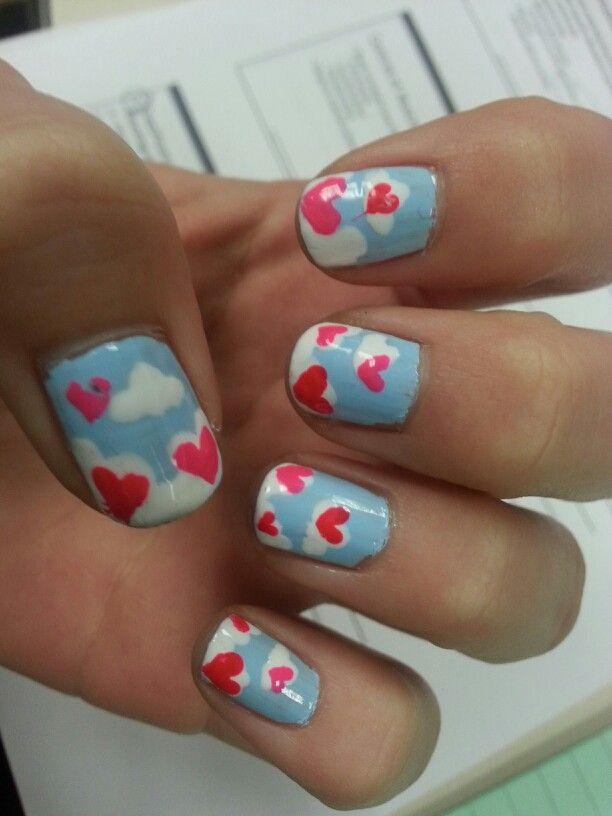 Diy Valentine Nails Valentines Pinterest Valentine