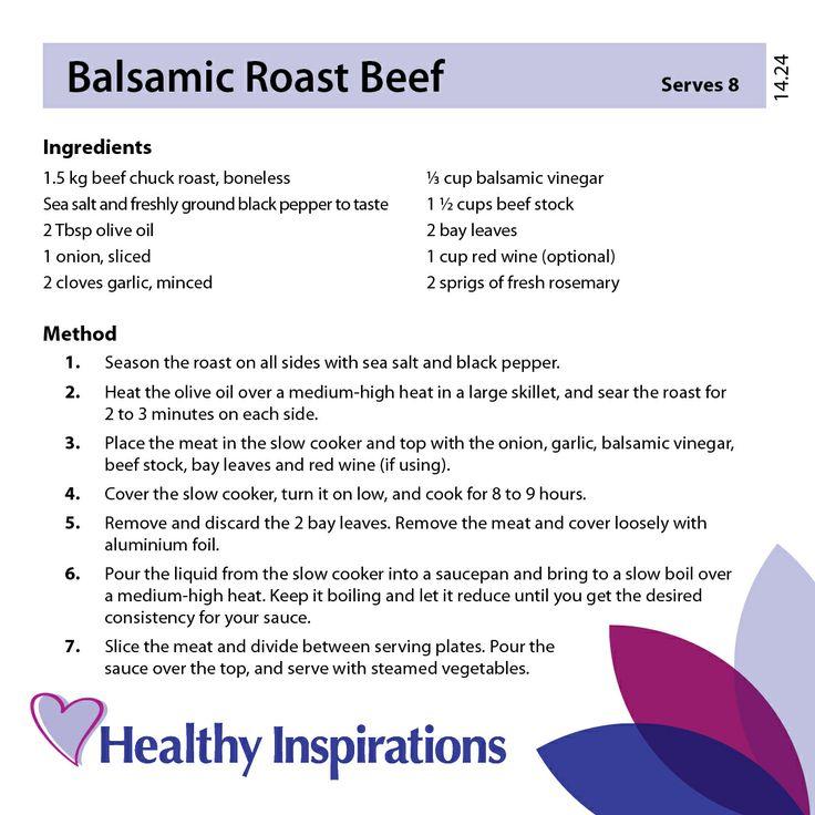 Balsamic Roast Beef #healthyrecipes #healthyinspirations