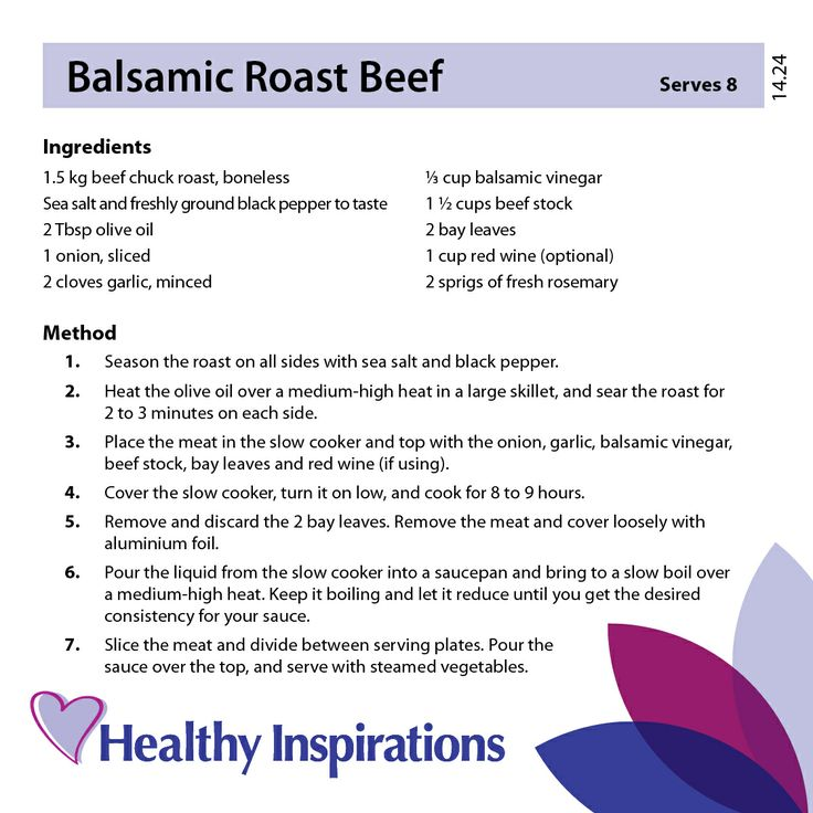 Balsamic Roast Beef #healthyrecipes #healthyinspirations