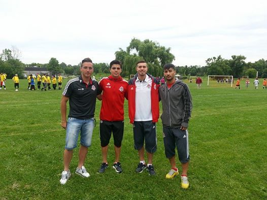 Toronto FC players Antonello Inverso, Mateo Restrepo, Marco Rodriguez, and Molham Babouli.  Thanks for coming out!