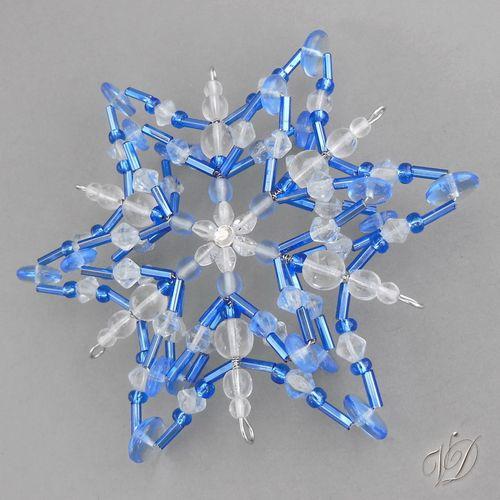 Originální korálková vánoční hvězda KO076 Vánoční ozdoba - Korálková hvězda modrá Originální korálková vánoční hvězda - originální vánoční korálková vločka Dekorace ze skleněných korálků - originální drátkovaná korálková ozdoba tvořená z korálků s očkem na zavěšení. Ozdoba je prostorová má pevný základ a hezky drží tvar. Vhodná jako dekorace ...