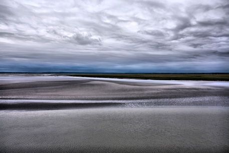 'Low tide in Normandy from Mont Saint Michel' by Pier Giorgio  Mariani on artflakes.com as poster or art print $16.63 #normandy #tide #landscape