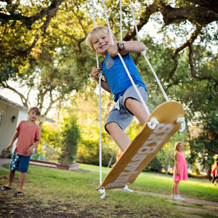 Sk8Swing NATURAL COLOR  - The original Skateboard swing  (FREE shipping) - Handmade in California. Perfect  tree swing or for a swing-set by skateswing on Etsy https://www.etsy.com/listing/229917820/sk8swing-natural-color-the-original