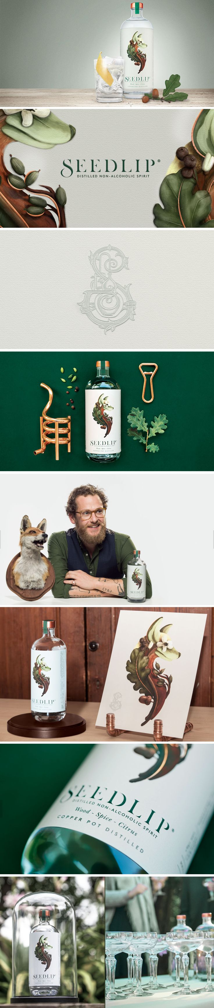 Pearlfisher has created the brand for the world's first distilled non-alcoholic spirit, Seedlip.