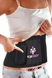 Powerful Waist Trimmer - Weight Loss Waist Trainer Ab Belt Getting Results, Burning Belly Fat, Best Fitness & Exercise Workout Equipment For Abs, Lower Back Support And Detachable Pocket