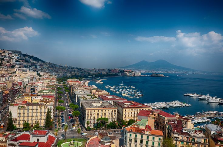 Coastal street in Naples