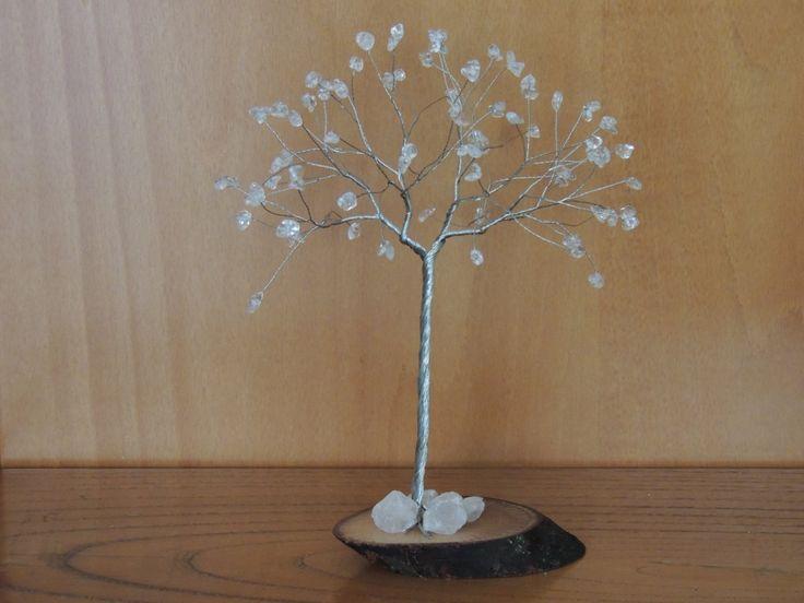 15th Wedding Anniversary gift, Crystal wedding anniversary, Crystal wire tree…