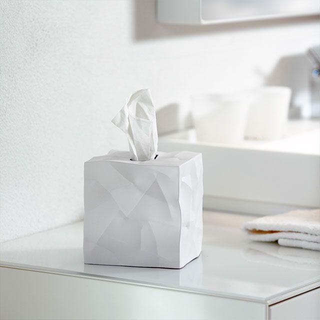 SALES CAMPAIGN! Essey Wipy Cube - エッセイ ウィピー キューブ型のティッシュボックス ホワイト