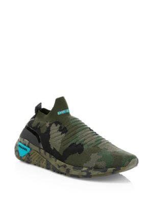 7ffb2c4283e36 DIESEL Knit Camo Sneakers. #diesel #shoes   Diesel in 2019 ...