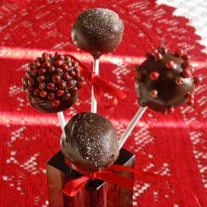 Dark Chocolate Pepper Pops (Cake Pops for Grownups)
