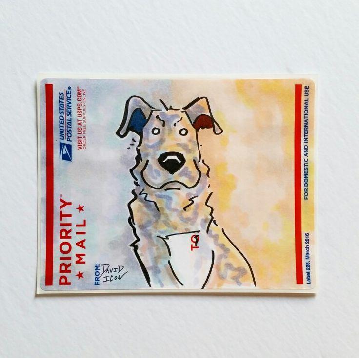 Street art dog sticker cutecoolawesome