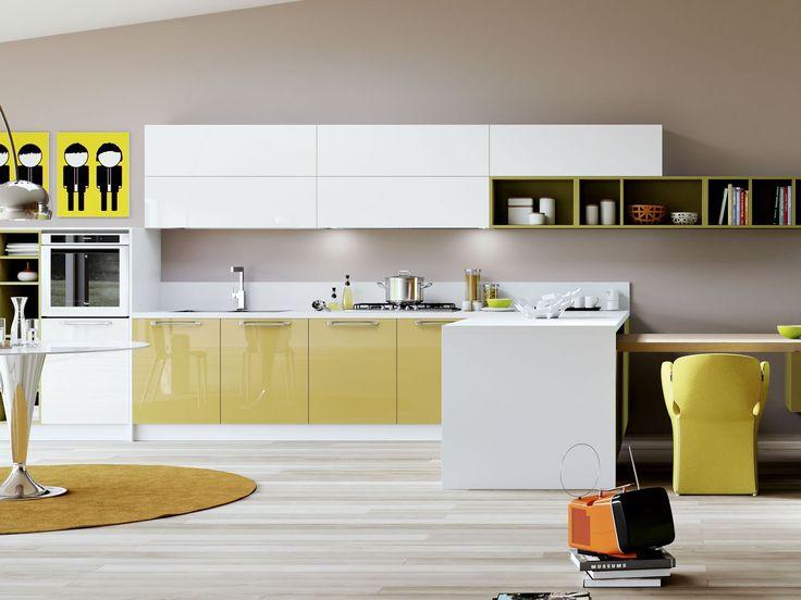Oltre 25 fantastiche idee su cucine giallo senape su - Cucine sospese da terra ...