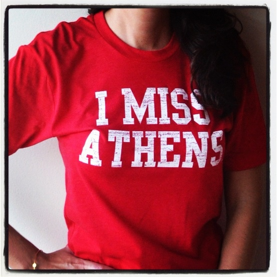 UGA Bulldog Alums had one heck of a time in Athens, Georgia!  Perfect for University of Georgia tailgates and watch parties. Get an I MISS ATHENS t shirt and proudly show your love for UGA Bulldogs!