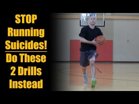 Basketball Drills: STOP Running Suicides - New Running Lines Dribbling Drills - YouTube