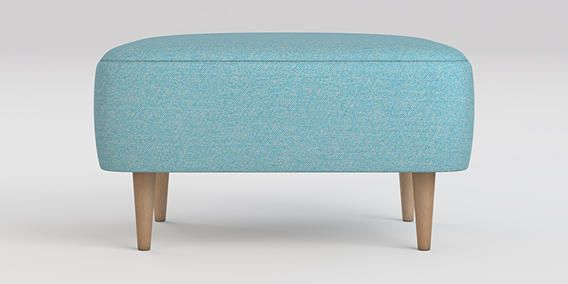 Buy Carter Footstool House Textured Teal Tall Retro - Light from the Next UK online shop