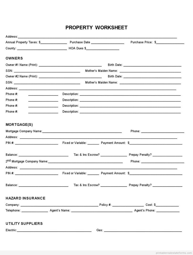 Affidavit Of Facts Template Impressive 863 Best Blank Real Estate Form Images On Pinterest  Free Printable .