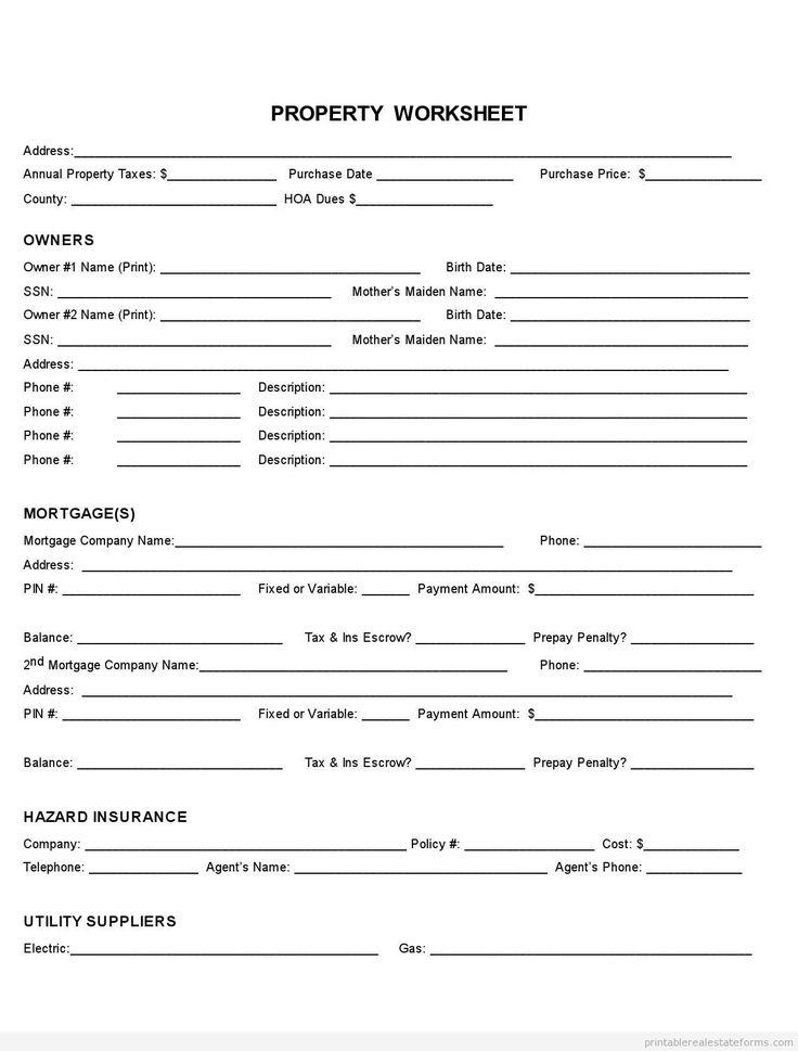 sample printable property fact sheet form printable real estate forms 2014 pinterest. Black Bedroom Furniture Sets. Home Design Ideas