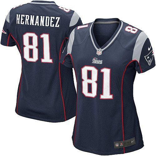 New Women's Blue NIKE Game New England Patriots #81 Aaron Hernandez Team Color NFL Jersey | All Size Free Shipping. Size S, M,L, 2X, 3X, 4X, 5X. Our massive selection of Women's Blue NIKE Game New England Patriots #81 Aaron Hernandez Team Color NFL Jersey coupled with our competitive prices, fast shipping and friendly service for nike jerseys is why we are the largest fan shop online.$69.99
