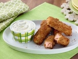 Parmesan Fish Sticks: Food Network, Giada De Laurentiis, For Kids, Parmesan Fish, Salmon Fish, Fish Sticks, Healthy Recipes, Parmesan Salmon, Breads Crumb