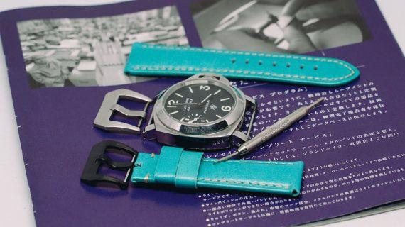 Panerai strap leather watch strappaneraiwatch bandspanerai