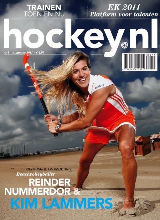 Kim Lammers op de cover van hockey.nl Magazine
