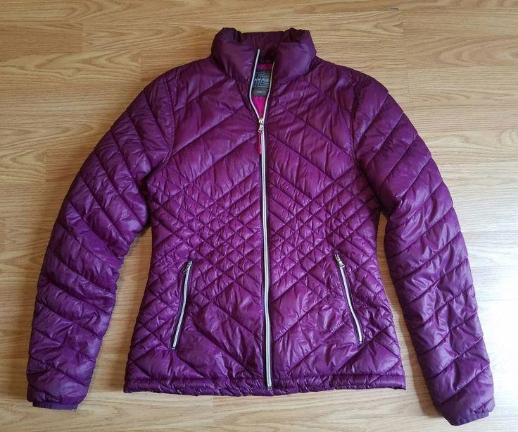 Tek Gear Warm Tek Women's size Small purple puffer Puff Zip up Jacket coat  #TekGear #BasicJacket