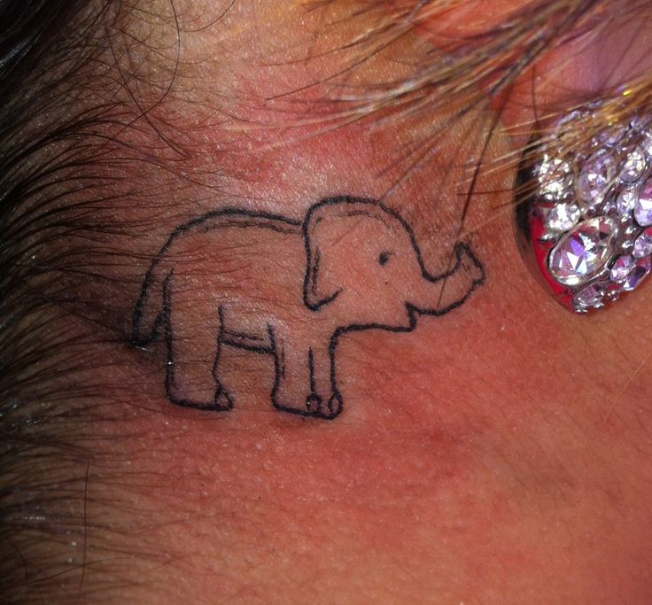 Ear Plant Elephant Tattoo