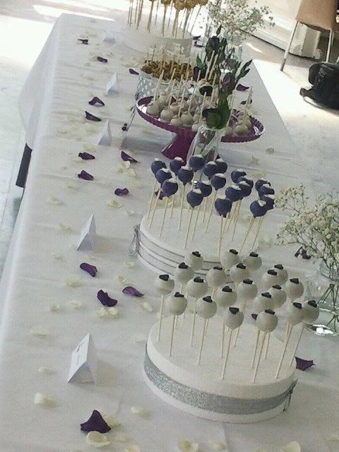 CakePops Taarten Tafel voor een bruiloft