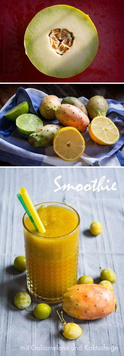 Smoothie mit Galiamelone und Kaktusfeige  #smoothie #yummi #kaktusfeige #melone