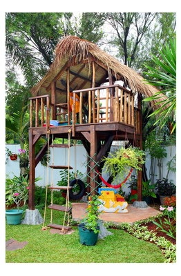 Wooden House for Children at Garden