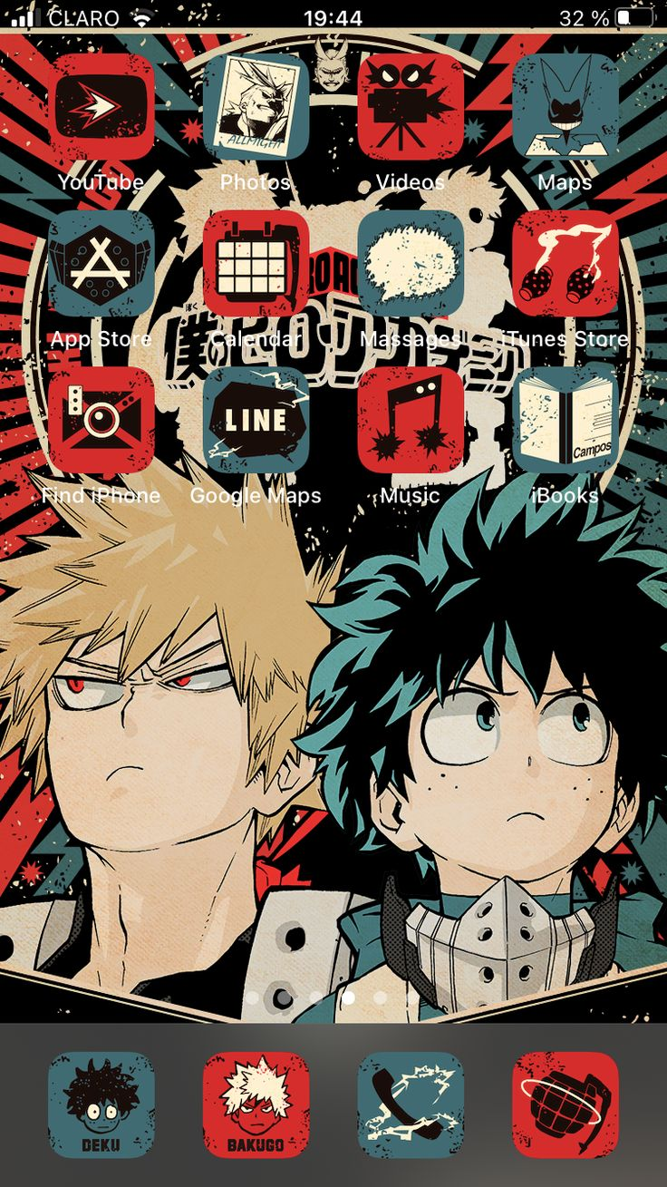 Download the app using your favorite browser and click on. IOS14 Anime App Icons aesthetic - My Hero Academia Iphone ...