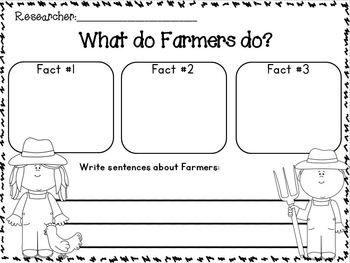 "Farm and Farm Animals ""Research"" Writing Unit w/ Literacy and math activities!!!  Freebies in the download preview!"