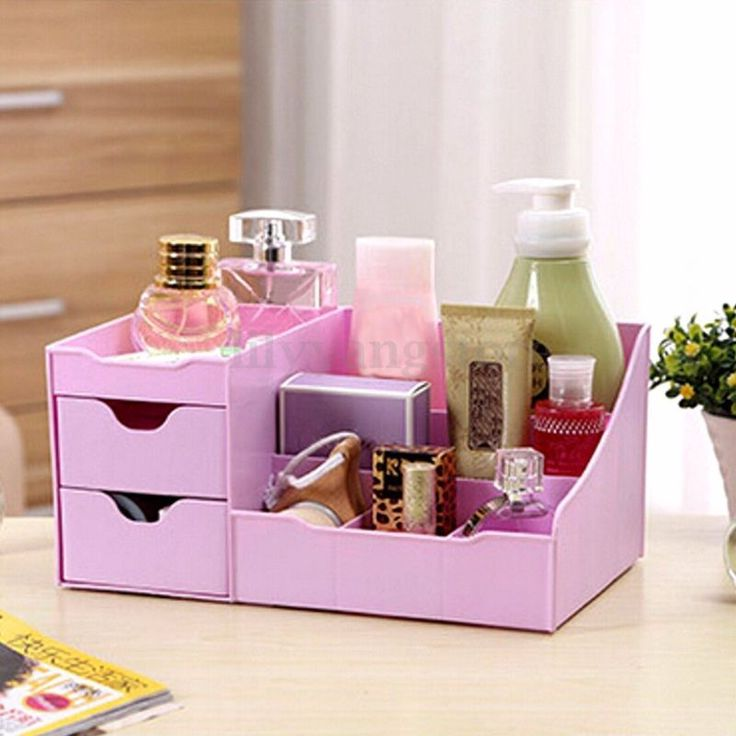 Clear Makeup Case Drawers Cosmetic Organizer Jewelry Storage Holder Cabinet Box