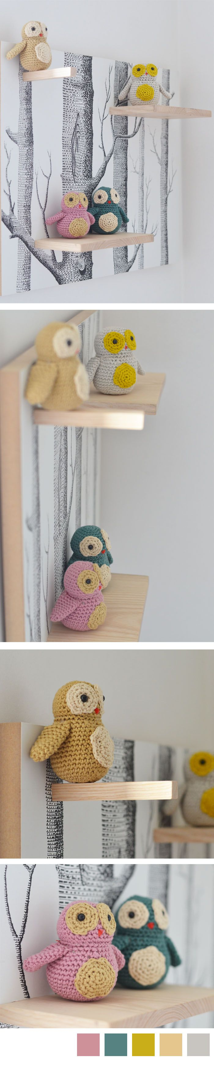 Petites chouettes en crochet, de L'encre violette