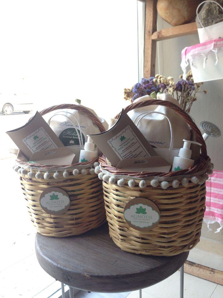 Beautiful #cretan #baskets with holistic products by pure philosophy www.purephilosophy.eu