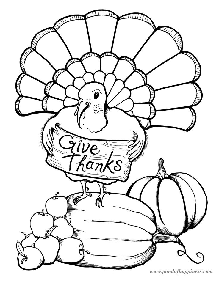 thanksgiving coloring pages placemat - Thanksgiving Turkey Coloring Page