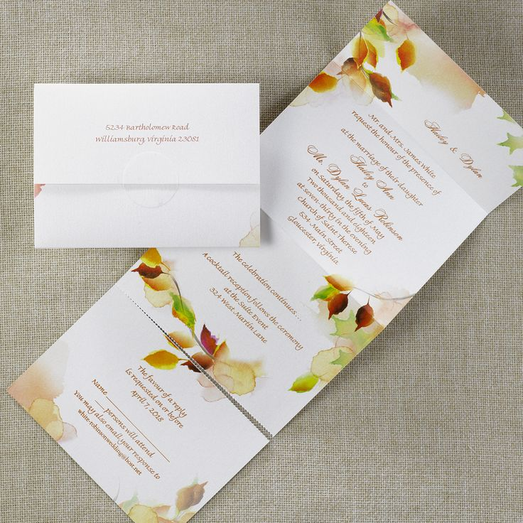 wedding invitation wording with no reception%0A Leaf Swirl  Seal  u    n Send  Wedding Invitation Ideas  Wedding Invites  Wedding  Invitations  View a Proof Online