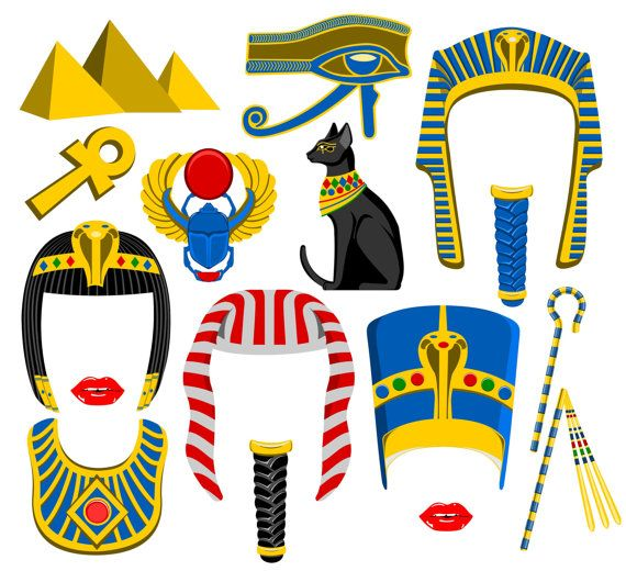 Egypt inspired digital photo booth props Instant download