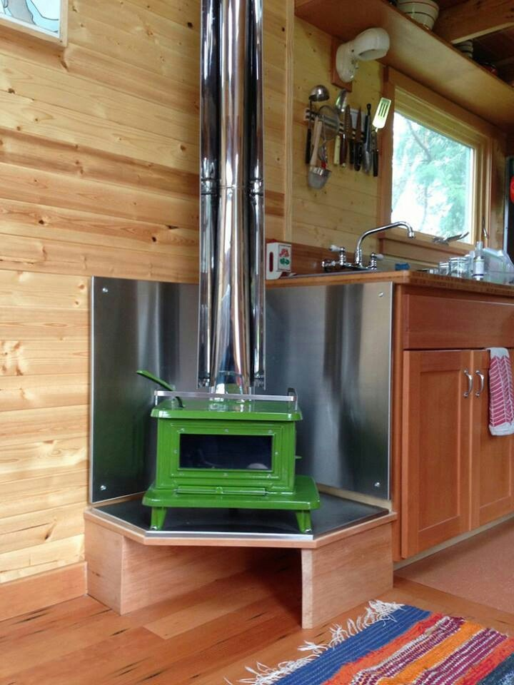Heat source in tiny house i think it would save space to for Green heaters for home