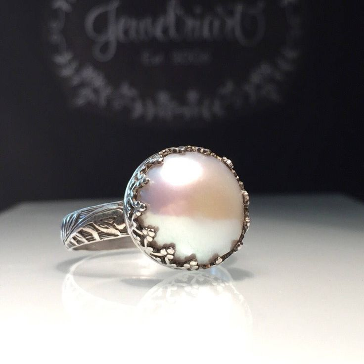 A personal favorite from my Etsy shop https://www.etsy.com/listing/529353093/crown-pearl-ringnatural-white-pearl