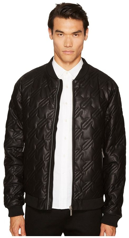 Versace Quilted Houndstooth Jacket Men's Coat