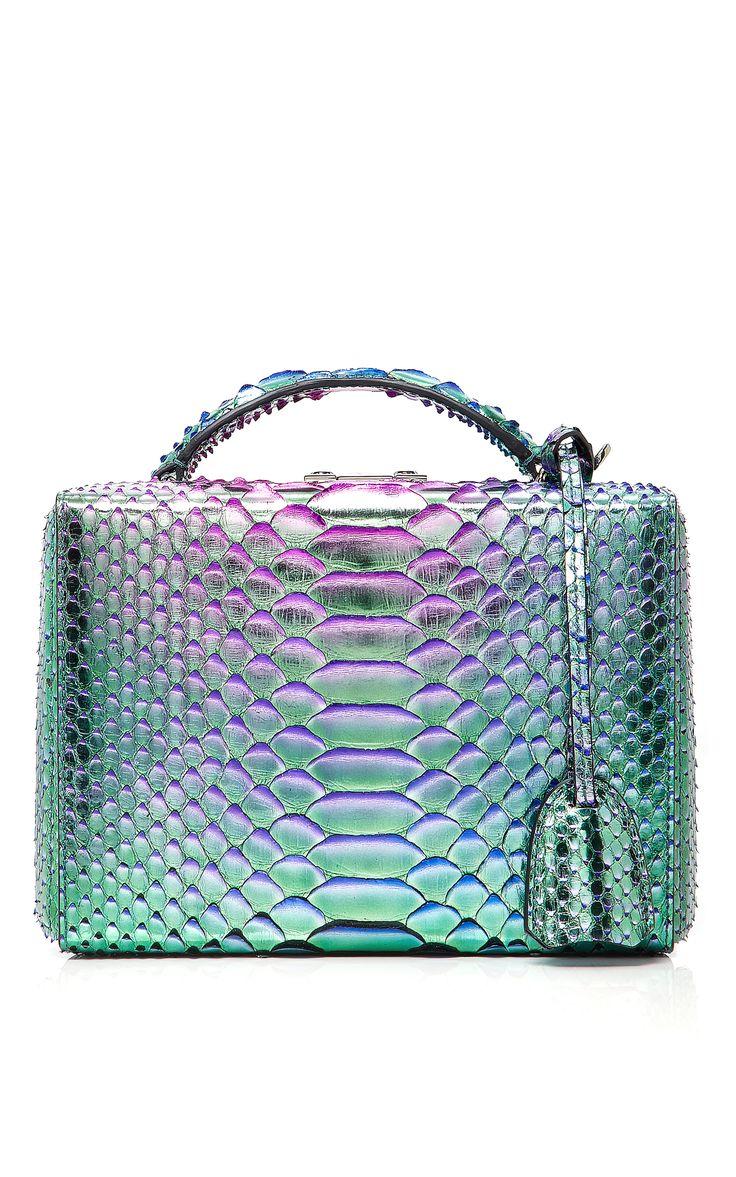 Python Grace Small Box Bag by MARK CROSS for Preorder on Moda Operandi