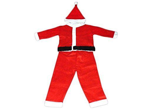 PROMOTION: Costume pour enfant père noël déguisement complet pas cher (wk-72/73), composé de 4 pièces: Veste, pantalon, ceinture et bonnet.…