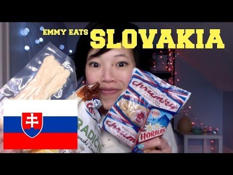 Emmy Eats Slovakia - tasting Slovak sweets - YouTube