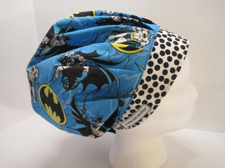 Batman Bouffant Scrub Hat, Nurses Scrub Hat, Surgical Hat, Surgical Cap, Bouffant Scrub Hat, Nurse Gift by sewingzen on Etsy
