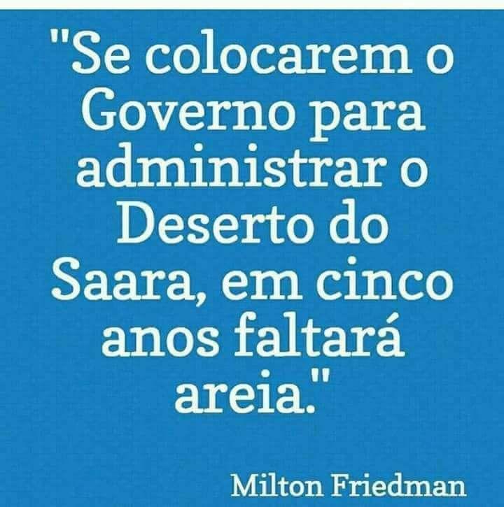 Brasil-Corrupção-Frase-Se colocarem o Governo para administrar...-Milton Friedman