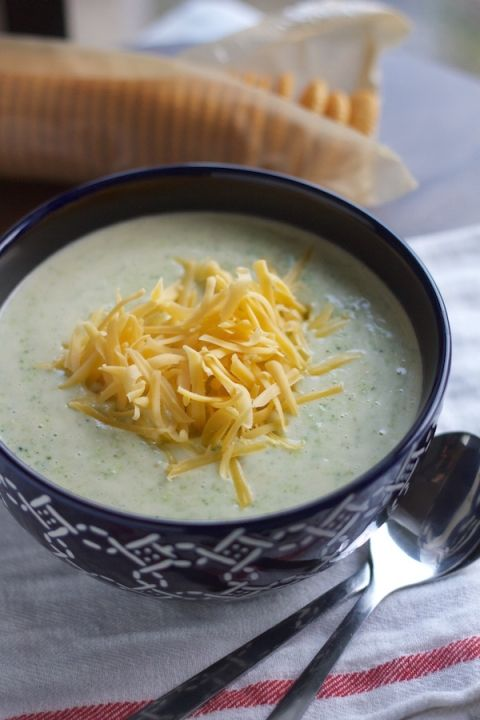 10 minute broccoli cheddar soup