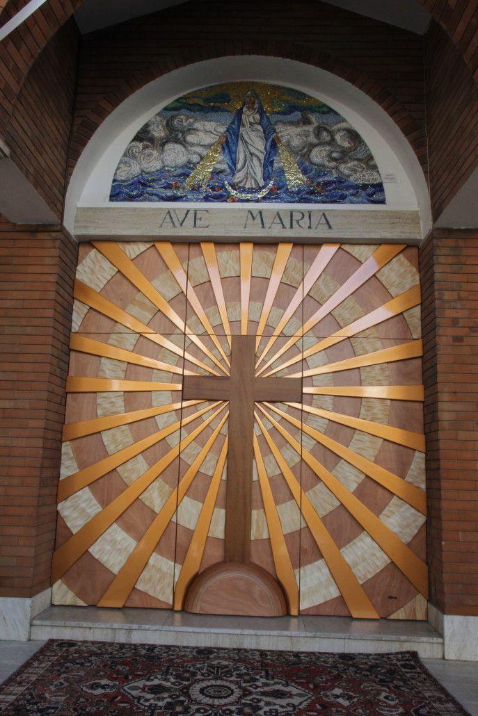Portone chiesa di Misano Adriatico mt 3x3